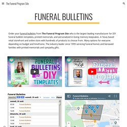 The Funeral Program Site - Funeral Bulletins
