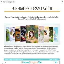 The Funeral Program Site - Funeral Program Layout