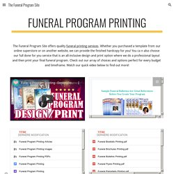 The Funeral Program Site - Funeral Program Printing