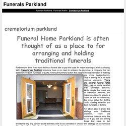 Crematorium parkland