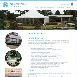 Services for Pre-Paid Funerals