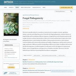 INTECH - MAI 2016 - Fungal Pathogenicity