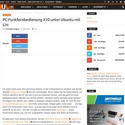 PC-Funkfernbedienung X10 unter Ubuntu mit Lirc › Linux und Ich