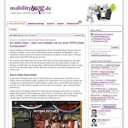 Ein-Seiten-Sites – Kann eine Website mit nur einer HTMTL-Seite funktionieren?