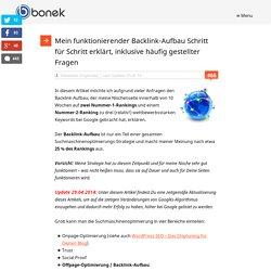 Mein funktionierender Backlink-Aufbau Schritt für Schritt erklärt, inklusive häufig gestellter Fragen – bonek internet marketing