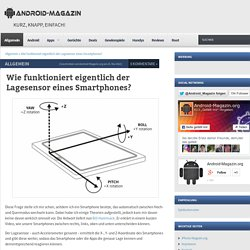 Wie funktioniert eigentlich der Lagesensor eines Smartphones? - Android-Magazin.orgAndroid-Magazin.org