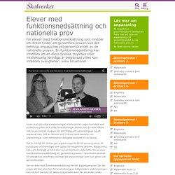 Anpassning av nationella prov för elever med funktionsnedsättning