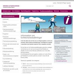 Funktionsnedsättning - www.lul.se