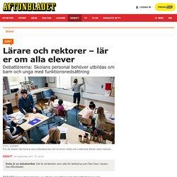 Funktionsrätt & funktionshinderförbunden: Lärare och rektorer – lär er om alla elever