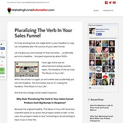 Sales Funnel Secret: Pluralizing The Verb
