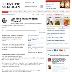 Are Men Funnier Than Women?: Scientific American Podcast