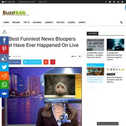 10 Best Funniest News Bloopers That Have Ever Happened On Live TV - Buzz Hubb