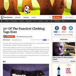 Funniest Clothing Tags Ever (click twice)