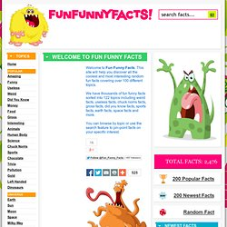 Fun Funny Facts - Interesting Random Facts
