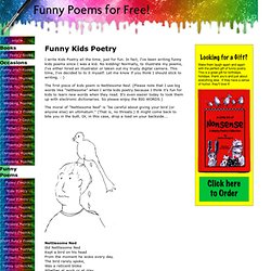 Funny Kids Poetry