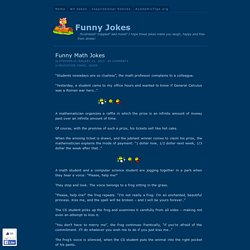 Funny Math Jokes - Funny Jokes