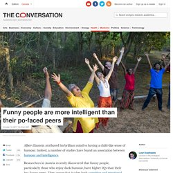 Funny people are more intelligent than their po-faced peers