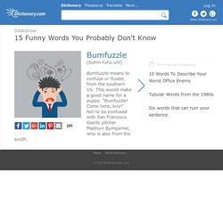 15 Funny Words You Probably Don't Know by Dictionary.com