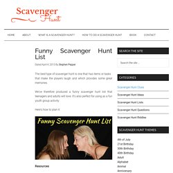 Free Funny Scavenger Hunt List To Download And Print