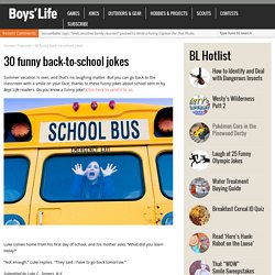 30 funny back-to-school jokes – Boys' Life magazine