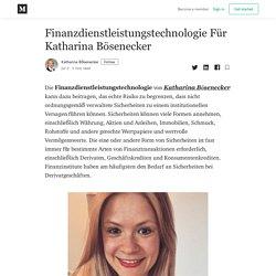 Finanzdienstleistungstechnologie Für Katharina Bösenecker
