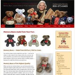 Fur Memory Bears - Mink Bears - Reminkie Memory Bears