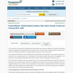 Furfural Market - Global Industry Analysis and Forecast, 2015