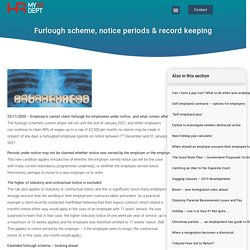 Furlough scheme, notice periods & record keeping