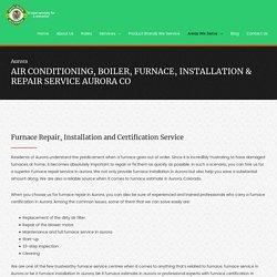 HVAC Installation & Repair Service Aurora CO