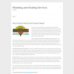 Why You May Need to Get Furnace Repair