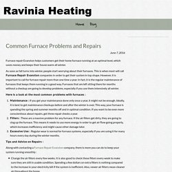 Common Furnace Problems and Repairs