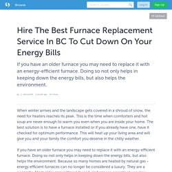 Best Furnace Replacement Service in BC