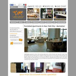 Furnished Apartments New York | New York City temporary housing and extended stay
