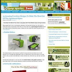 Space Saving Furniture: 19 Small Space Furniture Designs