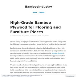 High-Grade Bamboo Plywood for Flooring and Furniture Pieces