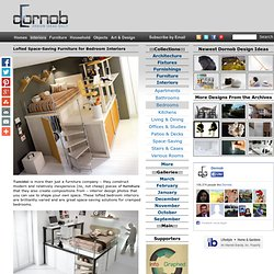 Lofted Space-Saving Furniture for Bedroom Interiors | Designs &Ideas on Dornob - StumbleUpon