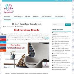10 Best Furniture Brands List - Interior Design