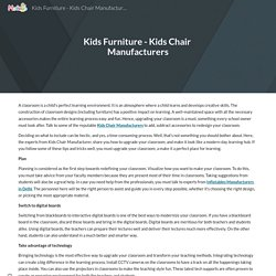 Kids Furniture - Kids Chair Manufacturers