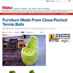 Online | Furniture Made From Close-Packed Tennis Balls