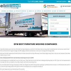 DFW Best Furniture Moving Movers Companies Services In DFW