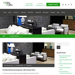Furniture Removal Companies – Why Choose Them - ManVan Services