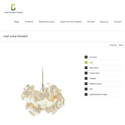 Green Furniture Concept - Leaf Lamp Pendant