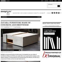 ZATARA: Furniture Made of Concrete and Driftwood