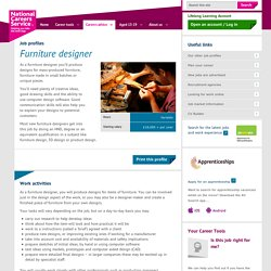 Furniture designer Job Information