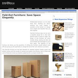 Fold-Out Furniture: Save Space Elegantly