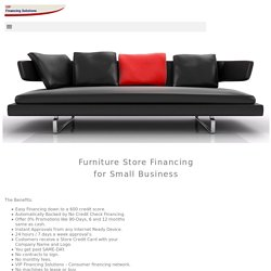 Furniture Store Financing - VIP Financing Solutions