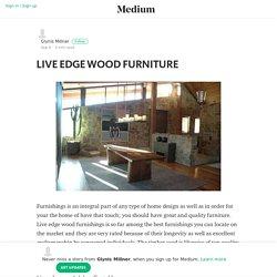LIVE EDGE WOOD FURNITURE – Glynis Millner – Medium