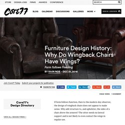 Furniture Design History: Why Do Wingback Chairs Have Wings?