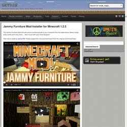Jammy Furniture Mod Installer for Minecraft 1.2.5