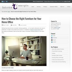 How to Choose Right Furniture for Home Office - Interior Concepts